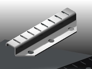"""Honeycomb Slotted Plate Hanger Supplied 1"""" to 6"""" long"""